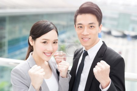 Businesspeople achievement in office