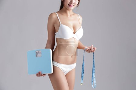 Health slim woman body