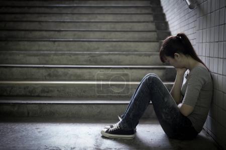 depressed woman feeling  upset