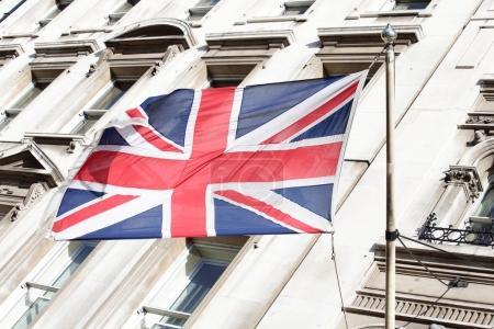 Photo pour Gros plan du drapeau britannique pour votre concept de voyage - image libre de droit