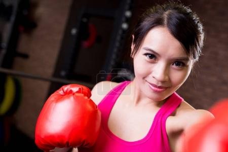 woman  boxing in the gym