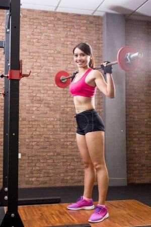 woman training hard
