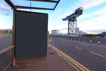 blank billboard in the glasgow