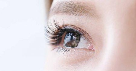 close up of beauty asian woman's  eye