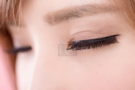 close up of beauty woman eyelashes for your concept
