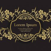 Pozadí s zlaté Pomněnka (Pomněnka) grafické květy