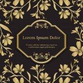 Pozadí s grafické květy zlaté chickweed (tomentosum)