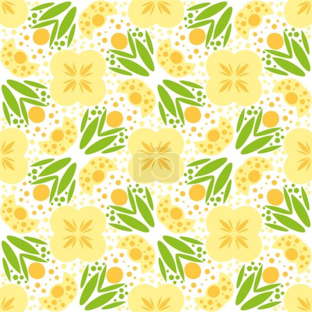 Illustration for Beautiful background of seamless floral pattern - Royalty Free Image