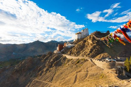 Leh Tsemo Fort Gompa Valley Mountains Ladakh H