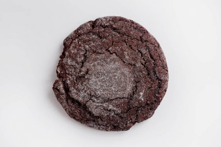 Photo for Chocolate cookie isolated on white background. Sweet dessert - Royalty Free Image