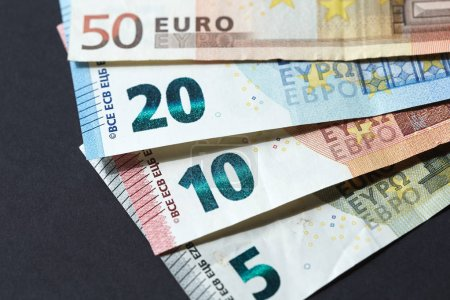 Photo for Different Euro banknotes close-up. - Royalty Free Image