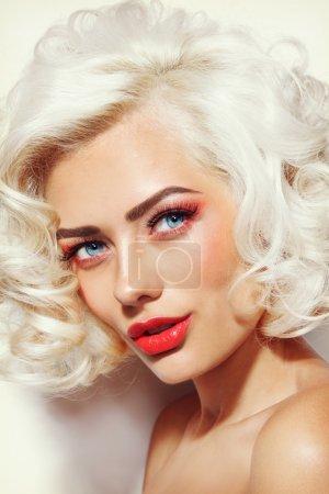 Sexy blonde beautiful girl