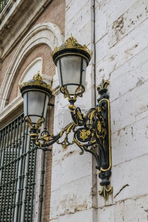 decorative lamps on the building