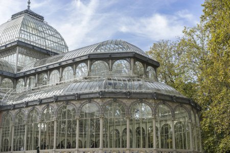 Glass palace of Madrid in the garden of the retreat