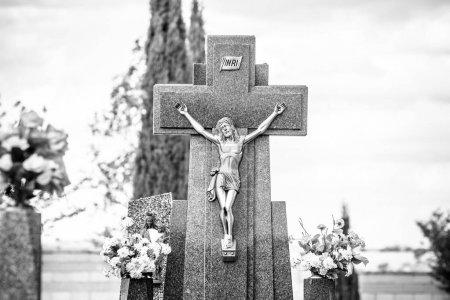 Cemetery details in Spain