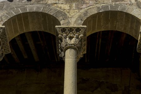 Arches with capitals in stone