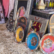 Arabic handicrafts, mirrors with hand-carved woode...
