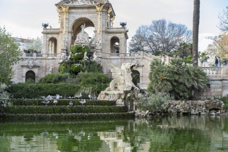 fountain  in the Citadel Park in Barcelona