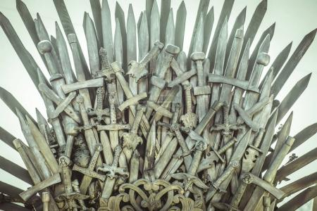 Iron throne made with swords