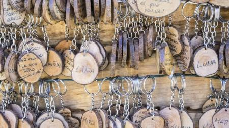 keyrings with people's names
