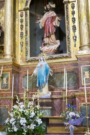 images of virgins and representations of Christ