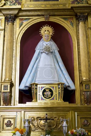 Foto de Virgen María. Semana Santa en España, imágenes de vírgenes y representaciones de Cristo, escenas de la fe en iglesias y templos de adoración de la cristiandad - Imagen libre de derechos