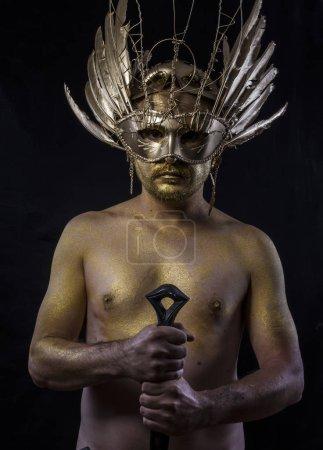 fantasy golden warrior