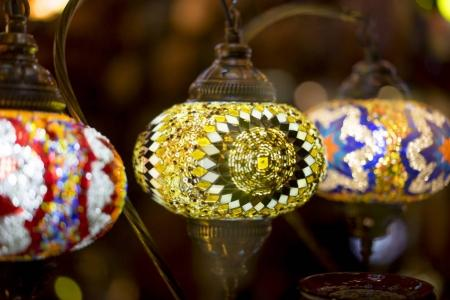 lamps made with colored crystals