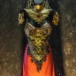 Fantastic gold armor and handmade metal pieces, it...