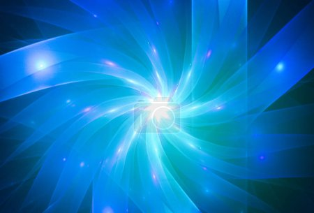 Abstraction dark blue background for card and other design artworks. Abstract blue background with fractal waves