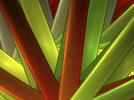 abstract background composed of fractal shapes and colors on intense color, design for posters background of web page or advertising