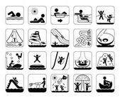 Very useful and usable set of icons for aqua parks and swimming