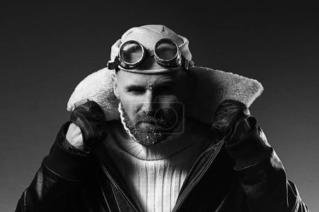 Portrait of a man in goggles
