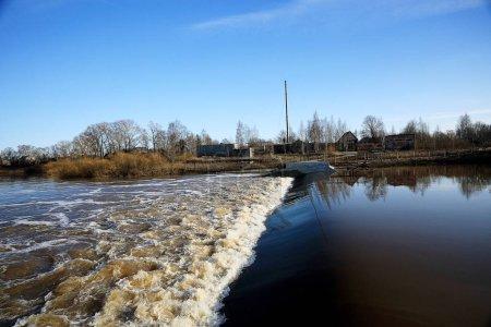 Foamy water texture