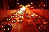 night, city, cars