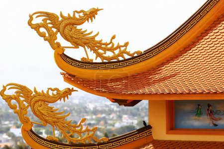 The decoration of the temple in Asia