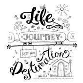 Life is a journey not destination card Funny  Hand drawn letter