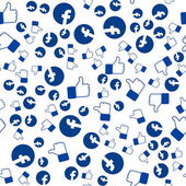 The facebook pattern thumbs up you can use for wallpapers fill images web page background surface texture