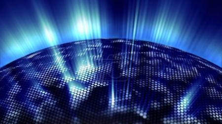 Cool glow of the digital sphere