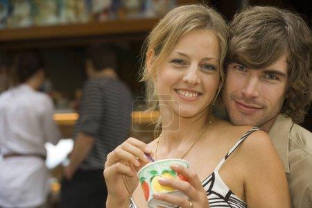 couple having ice cream.