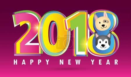 Happy new year 2018: dog