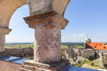 Renaissance castle, defense building, ruins, on a sunny day,  Lublin Voivodeship, Janowiec ,Poland