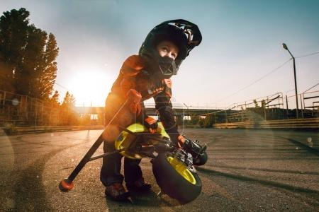 Child on a motorcycle