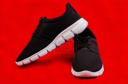 Pair of new unbranded black sport running shoes or...