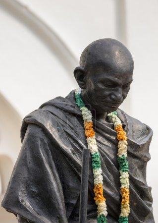 Closeup of Gandhi statue in