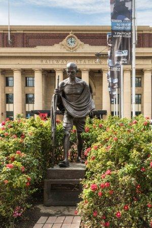 Mahatma Gandhi statue in front