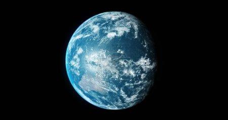 Planeta Tierra desde el espacio 3d ilustración 3d render