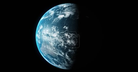 Planet Earth From Space 3d illustration 3d render
