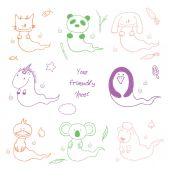 Cute ghost animals