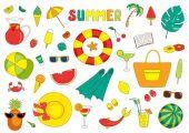 Cute summer stickers